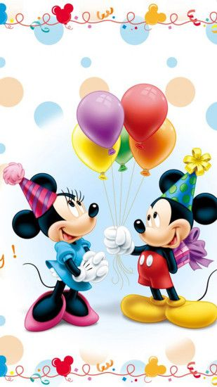 Mickey Mouse and Minnie Birthday Posters