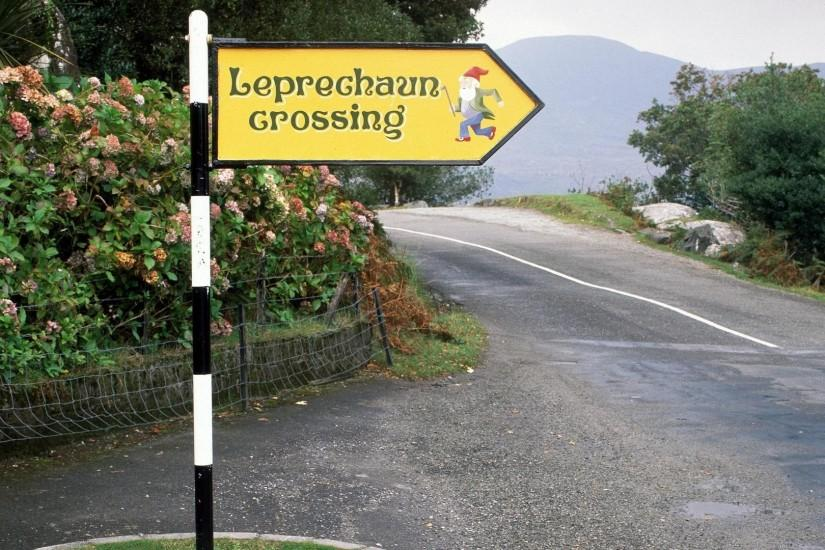 Leprechaun Crossing, Ireland - Wallpaper #