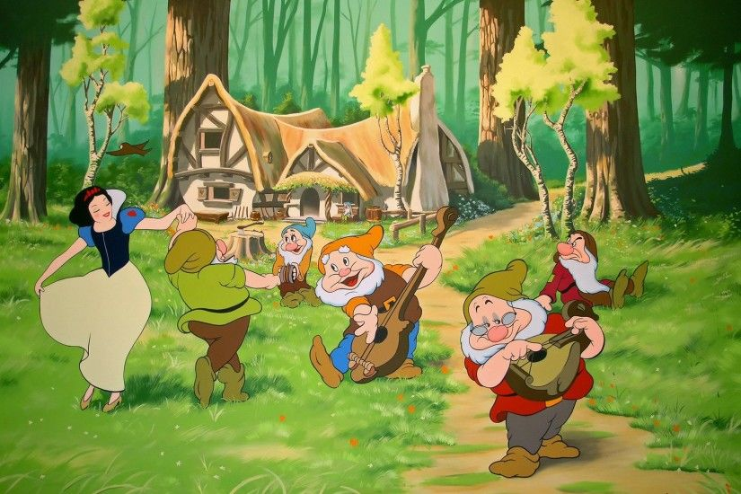 Snow White and the Seven Dwarfs Wallpaper Cartoons Anime Animated