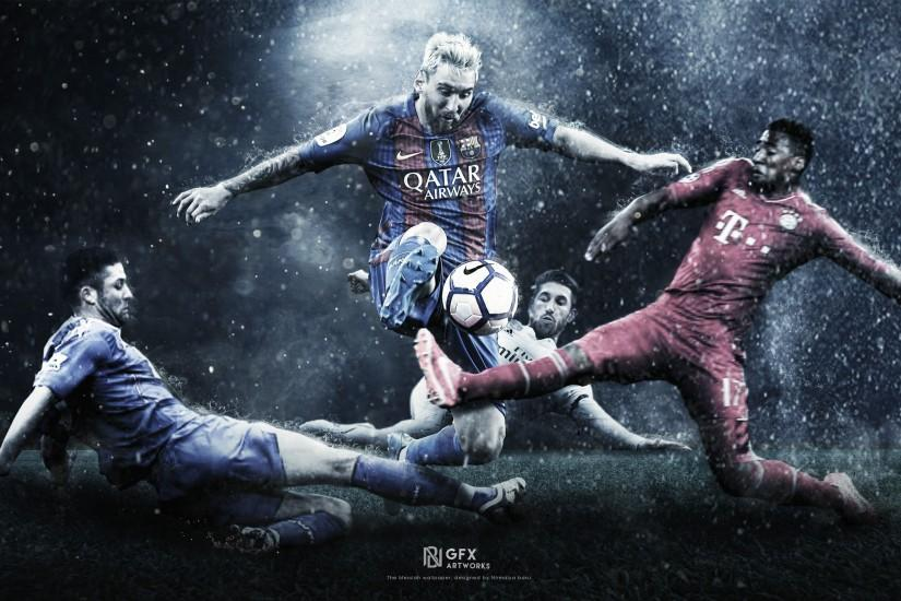 ... The Messiah - Lionel Messi Wallpaper by nirmalyabasu5