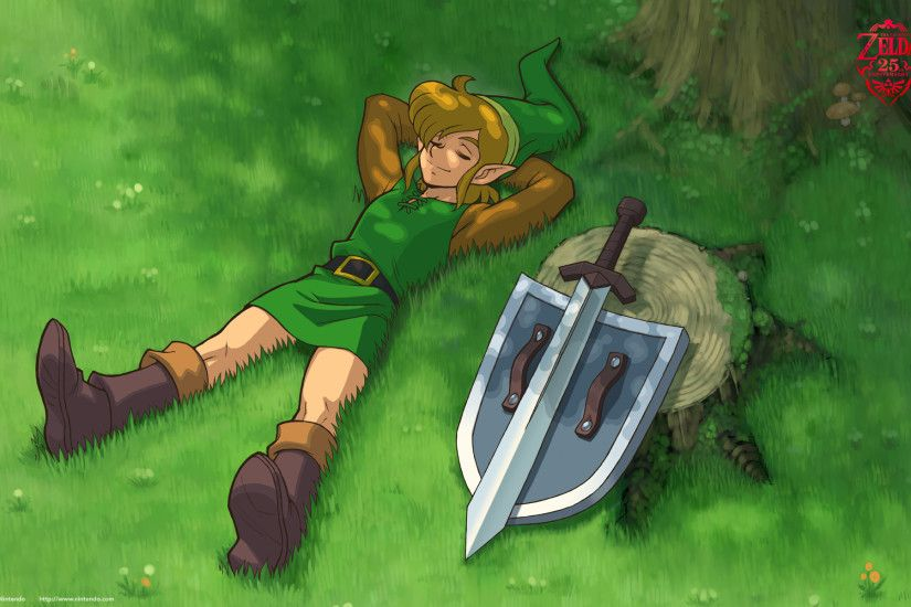 The Legend of Zelda Wallpaper (Zelda II: Adventure of Link) - Resting With