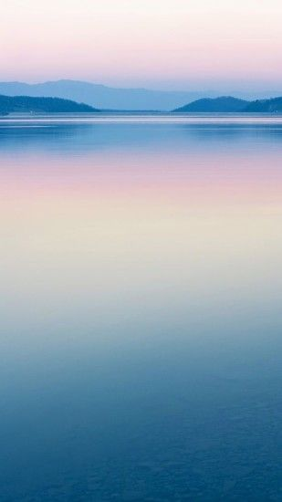 Pure Calm River Mountain Skyline Scenery #iPhone #6 #plus #wallpaper