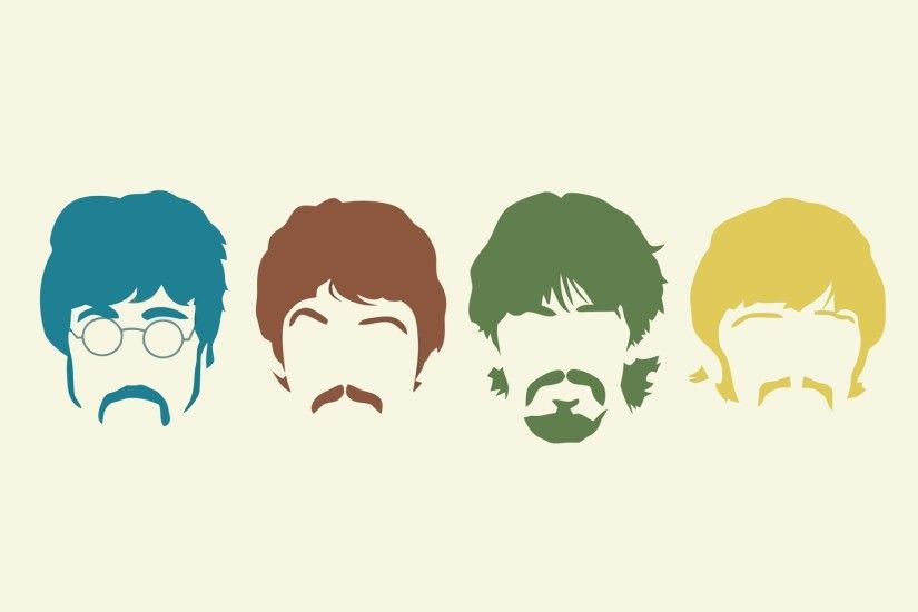 2560x1600 Wallpaper the beatles, silhouette, haircut, mustache, members