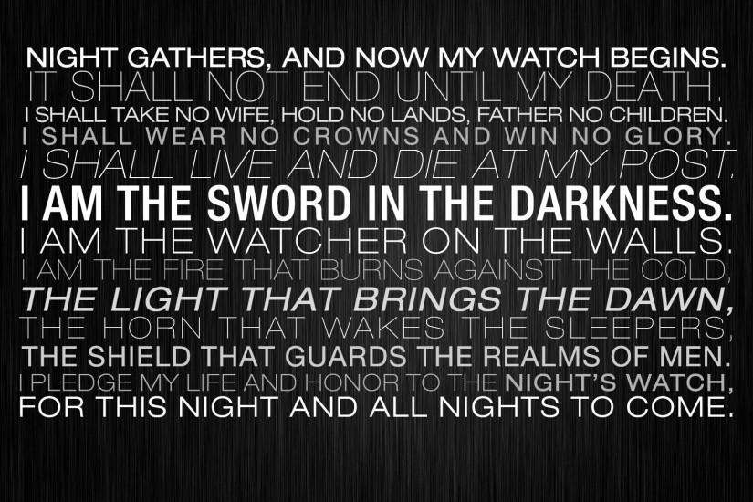 TV Show - Game Of Thrones Fantasy Typography Dark Quote Statement Wallpaper