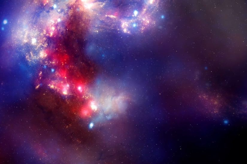 Pink Purple and Blue Sky in Space Motion Background .