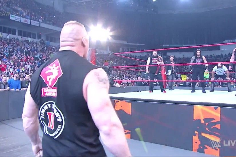 Brock Lesnar battered Seth Rollins, Roman Reigns and Sami Zayn ahead of the  2017 Royal