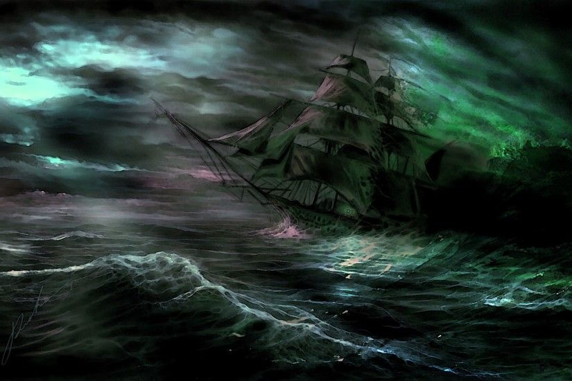 Wallpaper · fractal ghost ships ...