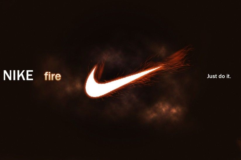 ... Wallpaper | FreeWPWallpapers Images of Nike Logo Fire Images - #SC ...