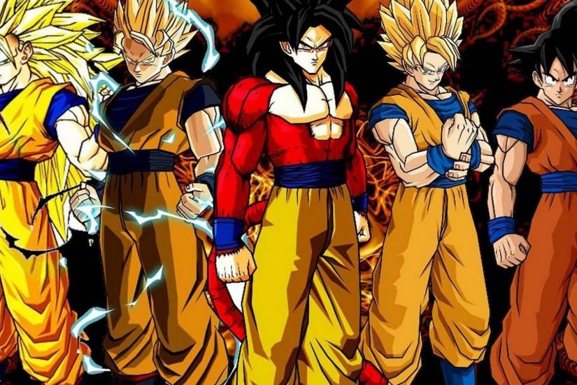Goku super saiyan transformation dragon ball z backgrounds.