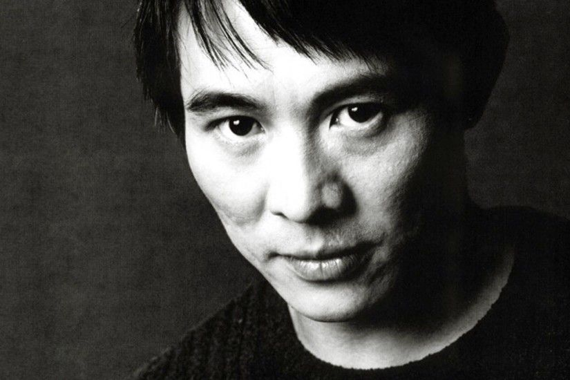 jet li brunet black and white face actor ...