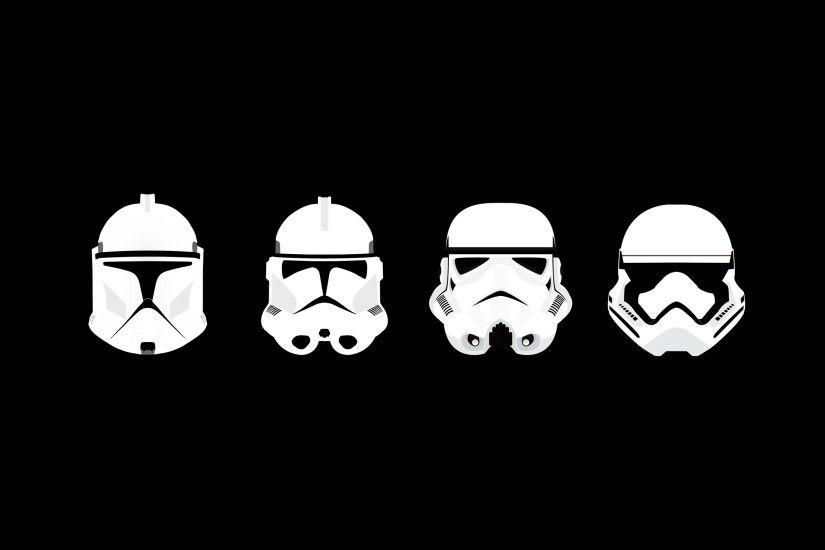 General 2560x1600 minimalism Star Wars clone trooper stormtrooper helmet