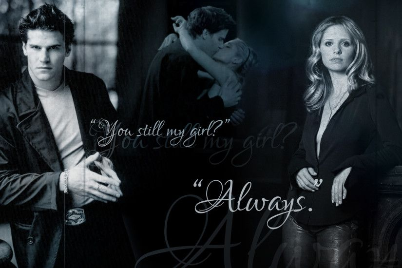 ... Buffy and Angel Wallpaper by Fleur-de-Mort