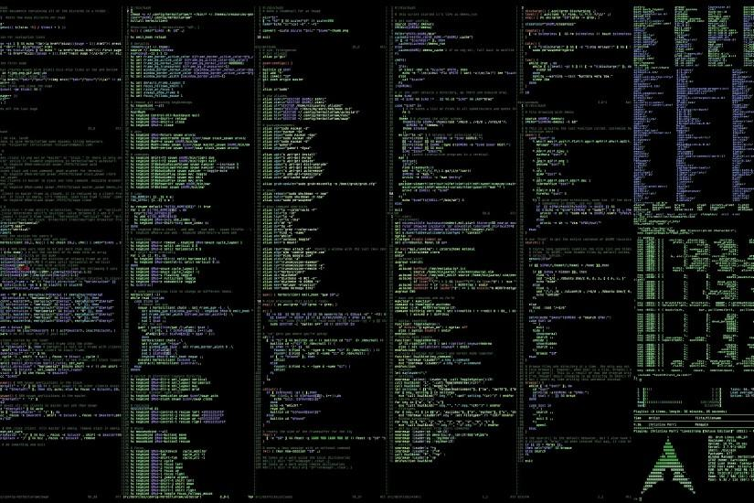 Archlinux Terminal computer system programming wallpaper background .