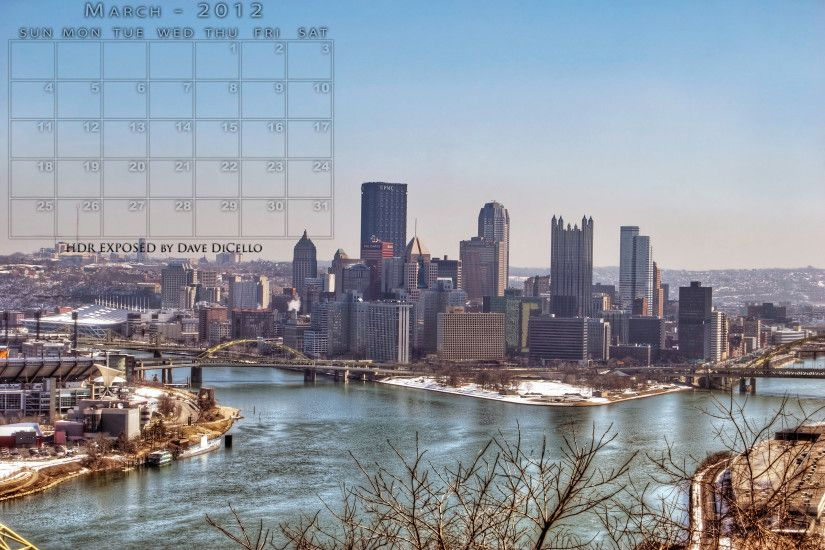 by Kelcey Bascombe Wallpaper for Computer: Pittsburgh Skyline