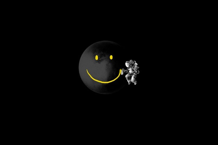 Funny Moon Smiley Space