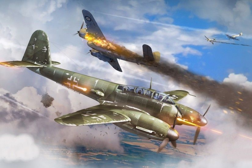 World War II, Military Aircraft, Aircraft, Military, Airplane, Germany,  Luftwaffe, Messerschmitt, Me410, War Thunder, Dogfight Wallpapers HD /  Desktop and ...
