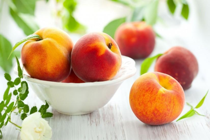 food fruits peach peaches nectarine leaves background wallpaper widescreen  full screen widescreen hd wallpapers background wallpaper