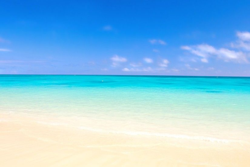 Preview wallpaper ocean, sand, beach 1920x1080
