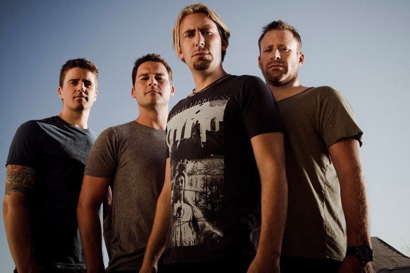 1920x1080 Wallpaper nickelback, sky, tattoo, t-shirts