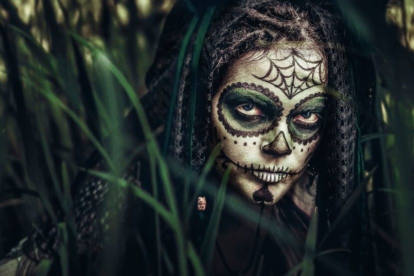 women, Jungles, Sugar Skull Wallpapers HD / Desktop and Mobile Backgrounds