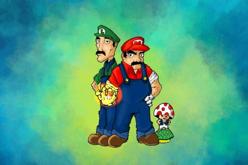 Luigi and Mario - Super Mario Wallpaper