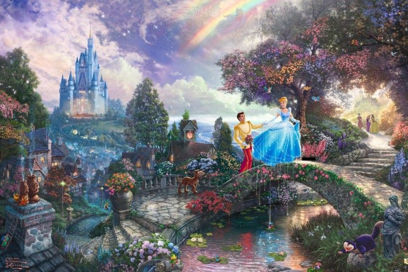 Resultado de imagen de wallpaper disney hd | Disney Vibes | Pinterest | Thomas  kinkade, Thomas kinkade disney and Disney addict