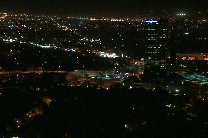 Above Los Angeles City Night Time Lapse Stock Video Footage - VideoBlocks