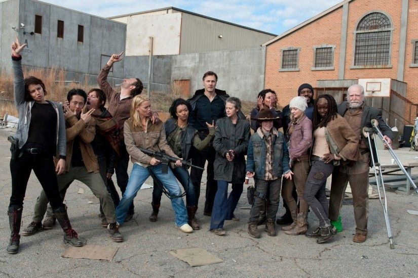 The Walking Dead cast wallpaper