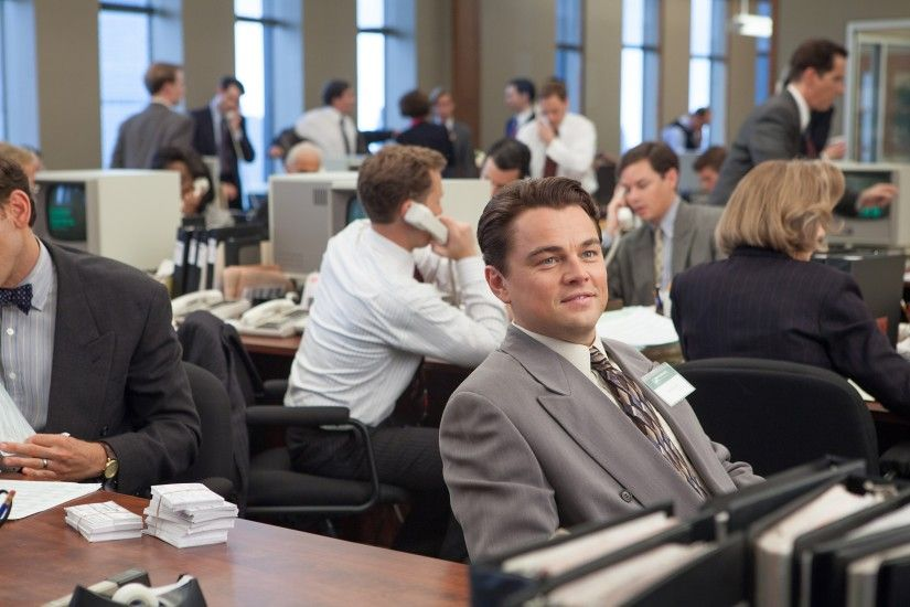 Movie - The Wolf of Wall Street Jordan Belfort Leonardo Dicaprio Wallpaper