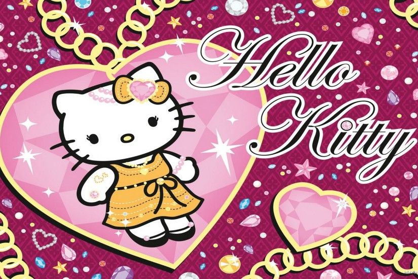 Hello Kitty Black And Pink Wallpaper