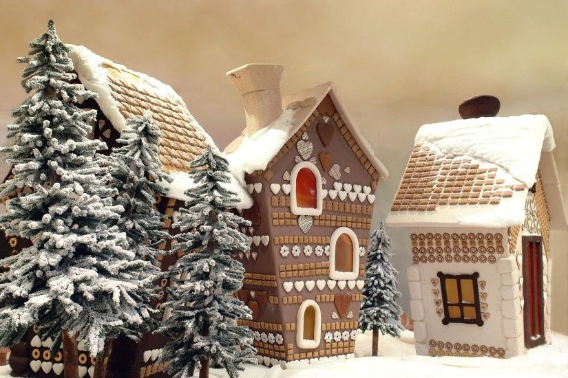 gingerbread cottages cold cottage december evening frozen holiday home  honey-cake house icing landscape rural
