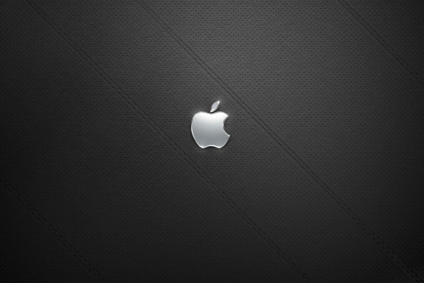 Leather BG with Apple Logo – 1920×1200