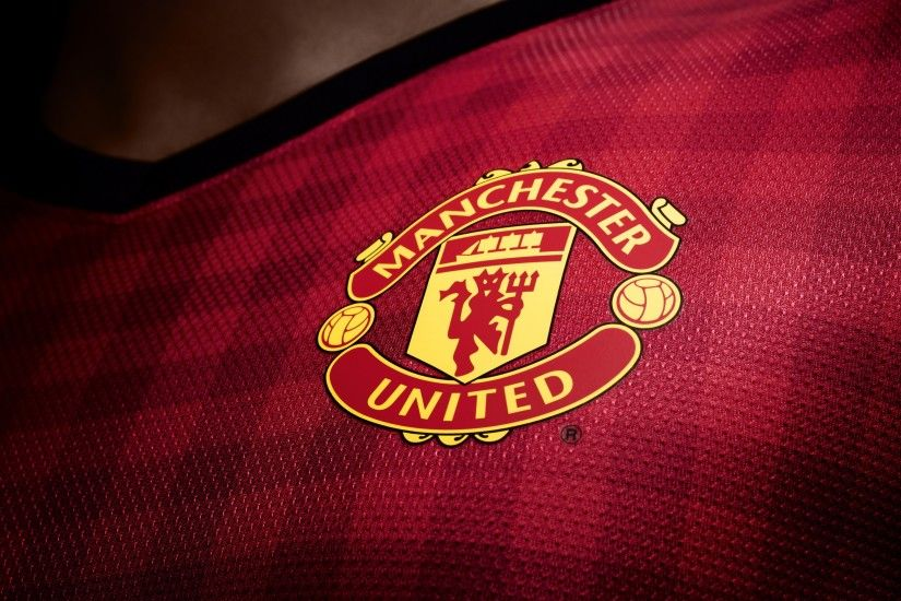 Preview wallpaper manchester united, logo, new set, 2012, 2013, english  premier