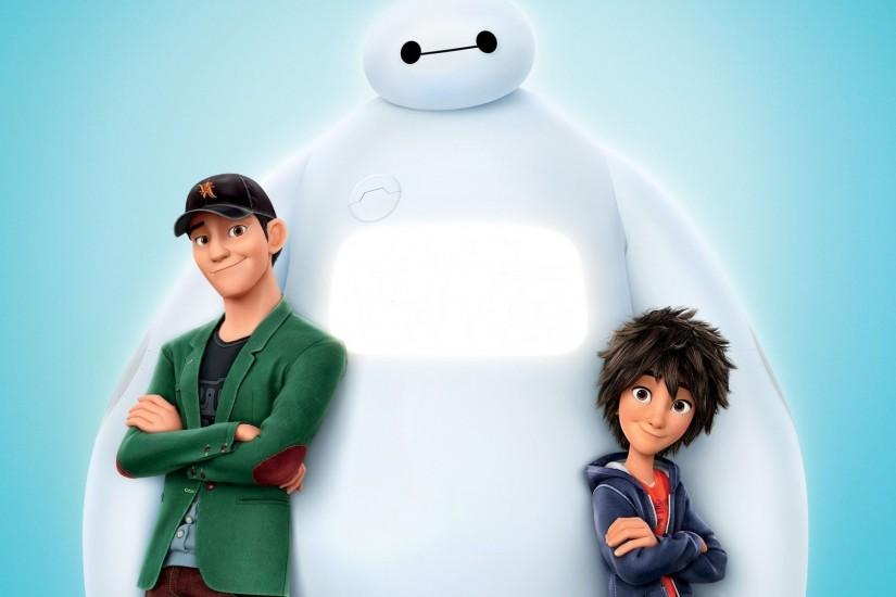 Baymax (Big Hero 6), Hiro Hamada (Big Hero 6), Tadashi Hamada (Big Hero 6),  Big Hero 6, Disney, Animated Movies Wallpaper HD
