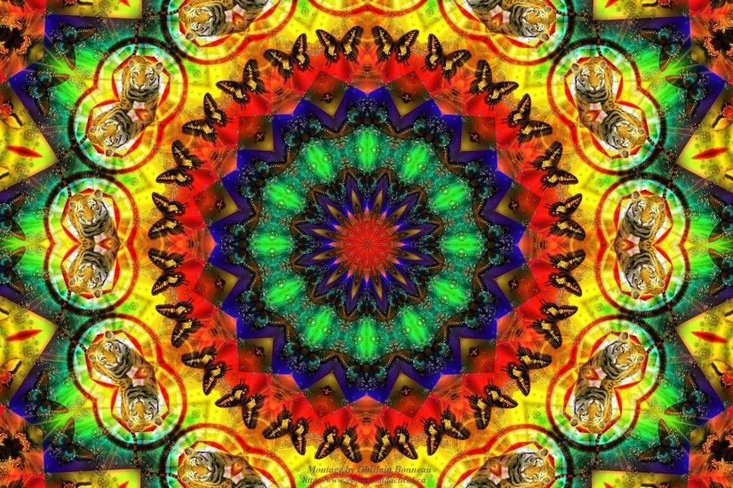 Trippy Background of Hippie Style