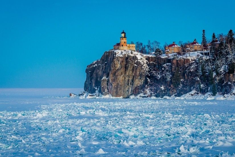 nature, Photography, Split Rock Lighthouse, Lake Superior Wallpapers HD /  Desktop and Mobile Backgrounds
