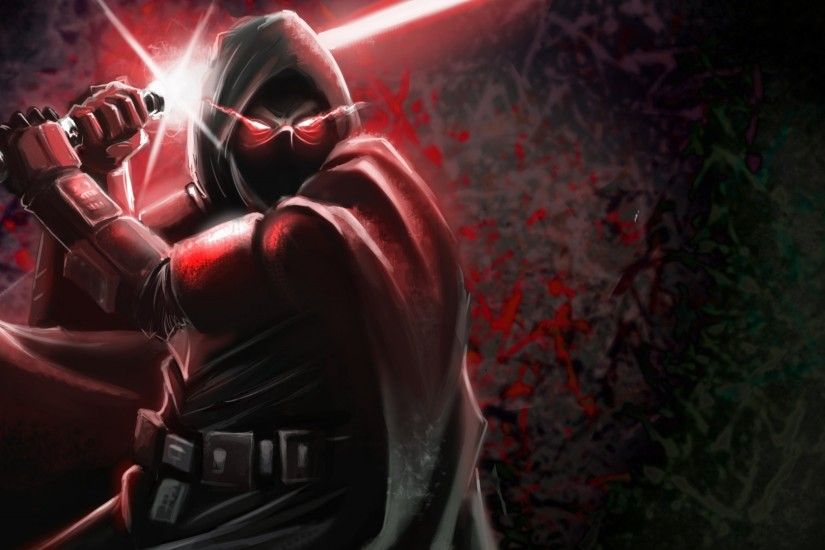 Download now full hd wallpaper star wars lightsaber warrior painting ...