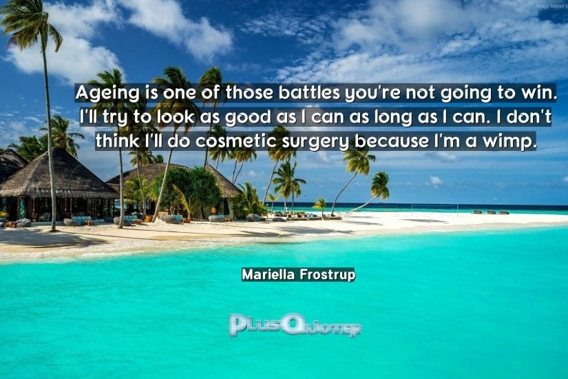 "Download Wallpaper with inspirational Quotes- ""Ageing is one of those  battles you"