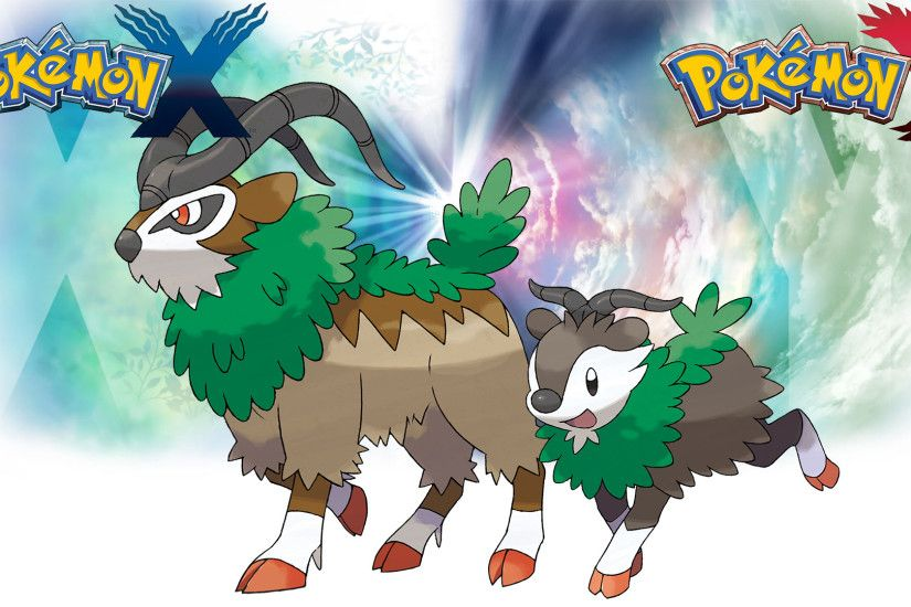... Pokemon X Y - Wallpaper - Skiddo and Gogoat by Thelimomon