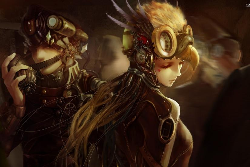 large steampunk background 2880x1800 for tablet