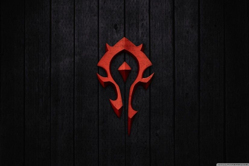World of Warcraft - Horde Sign HD Wide Wallpaper for Widescreen
