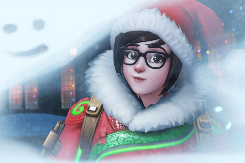 Mei, Winter Wonderland, Overwatch, 4K