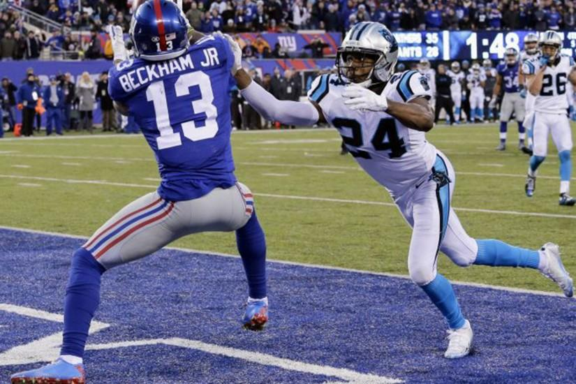 NFL: New York Giants' Odell Beckham Jr caught out in running battle with  Josh Norman | The Independent