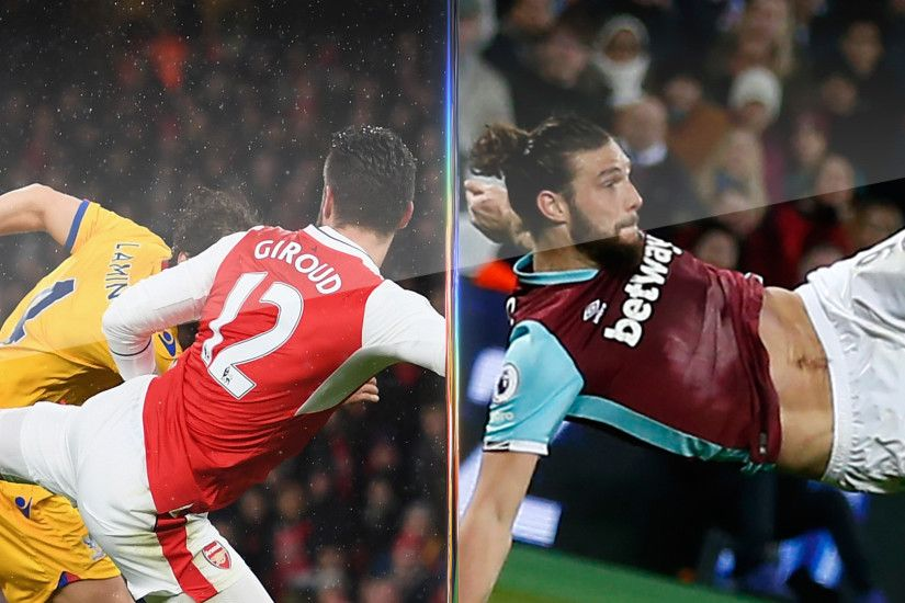 Andy Carroll's goal beats Olivier Giroud to Premier League Goal of the Month