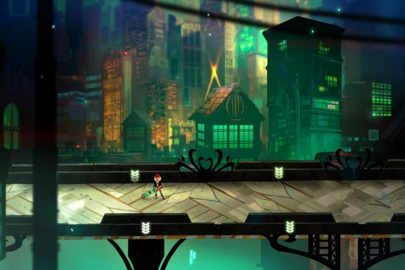 TRANSISTOR game anime city g wallpaper background