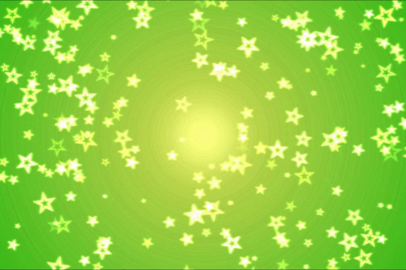 Colorful Bright Star Background Animation - Loop Yellow Green