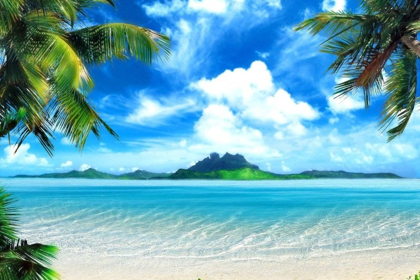 ... desktop background tropical beach background tropical beach screen free  powerpoint background