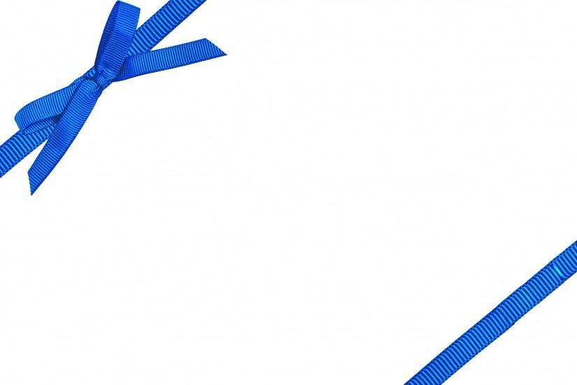 Blue Bow On White Background ...