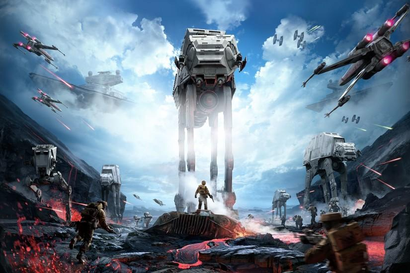 Star Wars: Battlefront, Star Wars, Video Games, X wing, AT AT Wallpaper HD