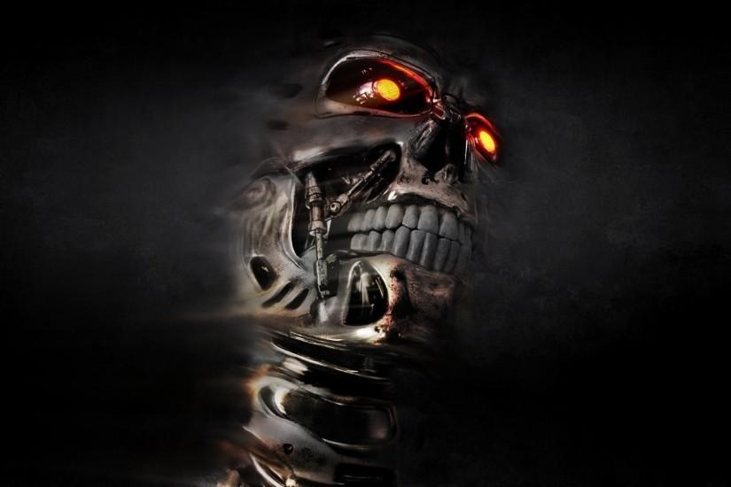 skull, Endoskeleton, Terminator Wallpaper HD